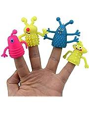 Huemny 4 szt./zestaw losowy TPR plastikowe urocze palec paleczki dzieci dzieci palec laleczki zabawka rodzice rekwizyty do opowiadania historii