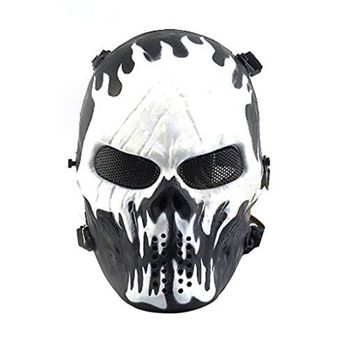 VAILANG Halloween Airsoft Paintball Full Face Cráneo Esqueleto Máscara de protección CS Wargame
