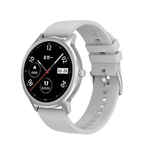 Relojes inteligentes para hombres y mujeres, pantalla táctil completa de 1.2 ', reloj a prueba de agua IP67, reloj fitness tracker con monitor de sueño, reloj inteligente para teléfonos Android e iO