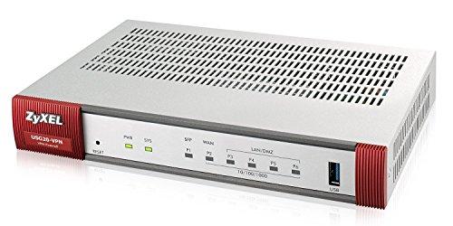 Zyxel ZyWALL 350 Mbit/s VPN-Firewall, empfohlen für bis zu zehn Benutzer  (IPsec, SSL) [USG20-VPN]