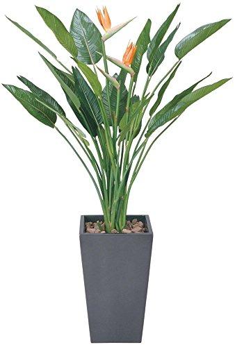 造花 観葉植物 「ART-ストレチア花付 160cm」 光触媒(空気清浄) インテリアグリーン 鉢植え