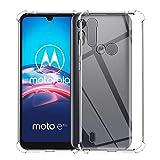 QULLOO Hülle für Motorola Moto E6s, Transparent TPU Hülle Schutzhülle Crystal Hülle Durchsichtig Klar Silikon Cover für Motorola Moto E6s