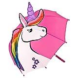VON LILIENFELD Paraguas Motivos Infantil Unicornio Ligeramente Estable Colorido Regalo Decoración Niños Niñas hasta 8 años