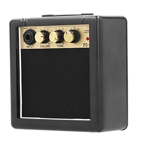 Gitarrenverstärker, tragbarer Verstärker aus Metall + Kunststoff 9-V-Batterie-Netzteil Gitarren-Kleinlautsprecher