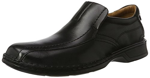 Clarks Escalade Step, Mocasines para Hombre, Negro (Black Leather), 42 EU