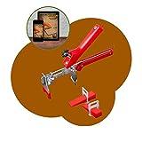 Kit di sistema di livellamento per piastrelle riutilizzabili + guida per la posa delle pia...