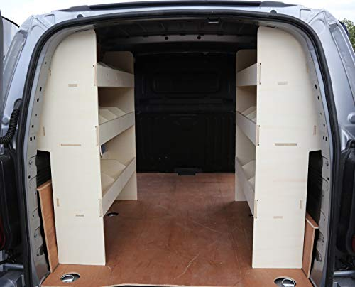 Renault Trafic SWB Pre 2014 OS & NS Achterlicht Plywood Van Shelving – Racking Storage System – Gereedschapsrek