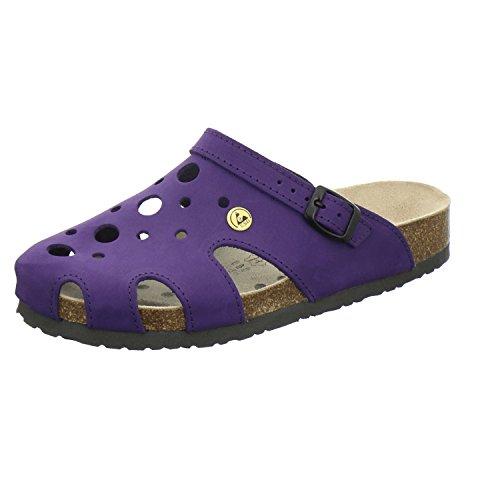 AFS-Schuhe 21993, ESD-Clogs Bequeme Hausschuhe für Damen, praktische Arbeitsschuhe, echt Leder Größe 40 EU Violett (Viola)