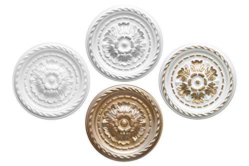 1 rozet | plafond | binnendecoratie | stuck | EPS | decor | 30cm | R-6 zilver