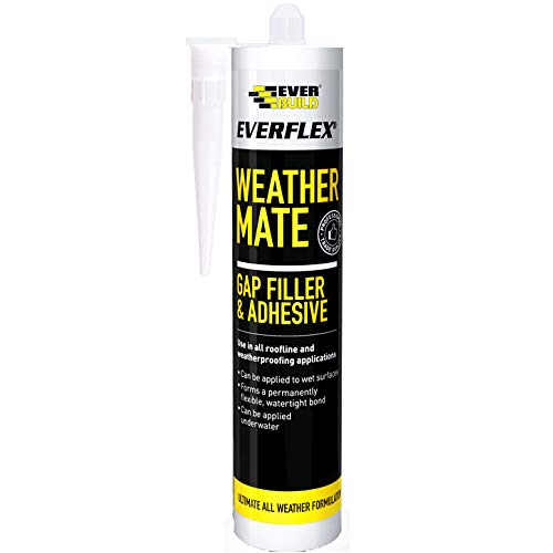 Everbuild WEABK-EB Everflex Weather Mate - Gap Filler and Adhesive, Black, 295...
