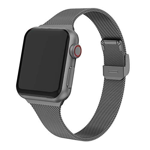 LiQinKeJi8 Correas de Reloj Correa for la Banda de Reloj de for Apple 44 mm 40 mm Pulsera de Metal de Acero Inoxidable Correa de for Apple Watch 6 5 4 3 SE for IWATT Band 42mm 38mm para los Hombres
