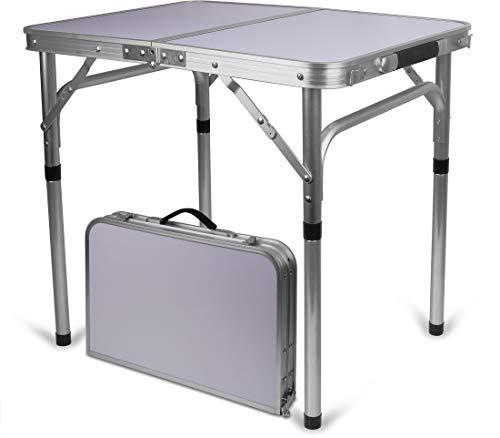 Storfisk fishing & more Aluminium Campingtisch, klappbar, kleines Packmaß, Koffergriff, Tischfläche: 45 cm x 60 cm, Variable Höhe