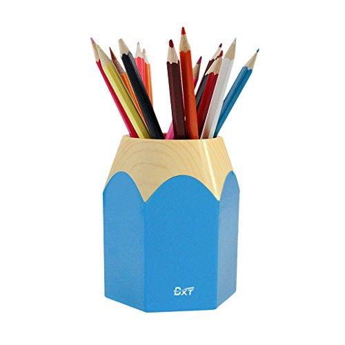 Bao Core BXT Fashionable Adorable Creative Cartoon Pencil Stub Shape Waterproof Pen Pencil Holder Box Cup Blue