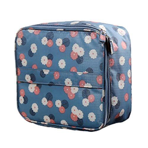 Sac cosmétique Voyage portable étanche portable Organisateur de conteneur Boîte 1 Pièces Blue Point d'onde