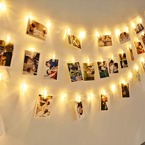 Ibello Photo Clip String Lights 40 LED Battery Powered Perfect for Hanging Photos,Indoor Decoration,Tree,Bedroom