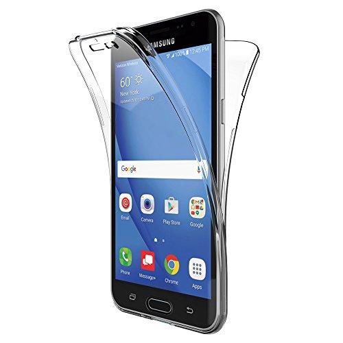 AICEK Funda Samsung Galaxy J3 2016, Transparente Silicona 360°Full Body Fundas...