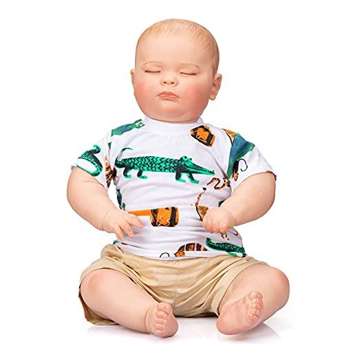 24'Big Big Big 3 Mes TAMAÑO 100% Hecho a Mano Reborn Toddler Durmiendo Joseph Baby Doll Mutiple Layers Pintura con Venas visibles