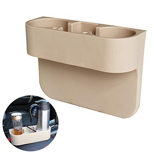 Heart Horse Universal Car Seat Side Cup Holder Organizador Multifuncional Botella de Almacenamiento Soporte Soporte para Teléfono Móvil (Beige)