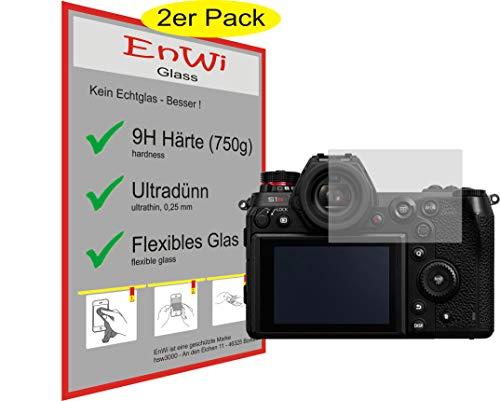 EnWi | 2X Panzer-Glas-Folie 9H Bildschirm-Schutz-Folie für Panasonic Lumix DC-S1R