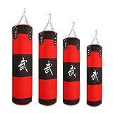 ZWJ Bolsa de perforación rellena Colgando Paño de Oxford Paño Pesado Bolsas de Arena Equipo de Kickboxing Rojo 120-150cm (Color : Red, Size : 120cm)