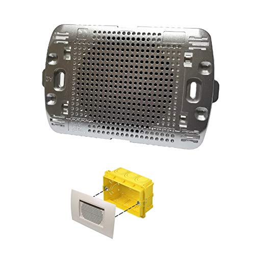 Diffusore audio sonoro da incasso per scatola cassetta 503 a parete altoparlante argento placca living light incluso LN4703 per amplificatore