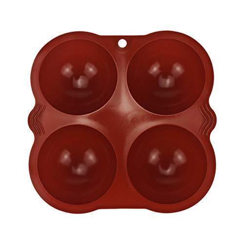 rethyrel Silikon-Backform - 4-Tassen-Silikon-Backform Schokoladenkuchen-Gelee-Backwerkzeuge Zur Herstellung Von Heißer Schokoladenbombe, Kuchen, Gelee