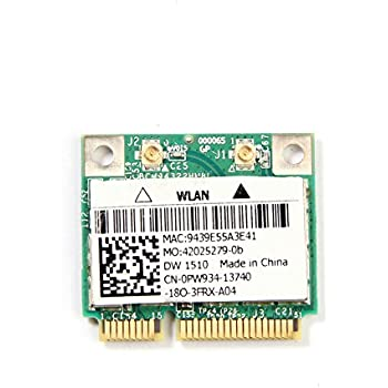 DW1510 AGN BCM94322 Half Dual-band N Pci-e Wirless WLAN Card 802.11a/g/n 2.4G & 5G for Laptops & Netbooks
