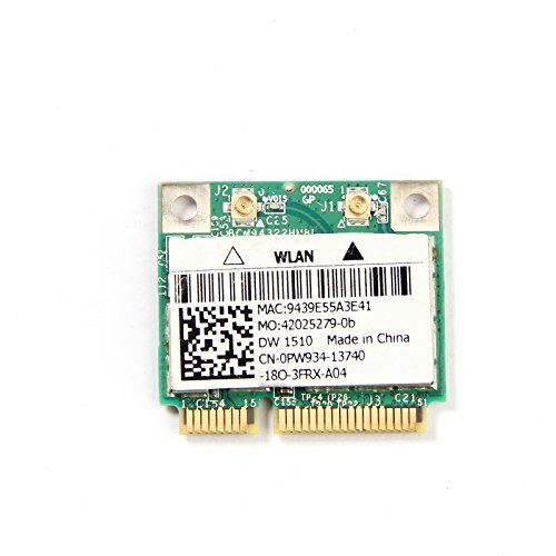 DW1510 AGN BCM94322 Half Dual-band N Pci-e Wirless WLAN Card 802.11a/g/n 2.4G & 5G for Laptops & Netbooks