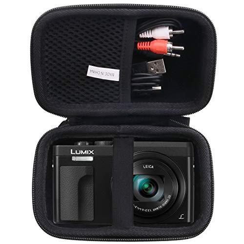 waiyu Hard EVA Carrying Case for Panasonic LUMIX DC-ZS70K/ZS80/ZS60 Digital Camera, Digital Camera Case (Black)