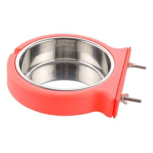MOACC Ciotola di Cane in Acciaio Inox, Rimovibile Appeso Pet Gabbia Ciotola, Ciotola da Gabbia per Animali Cani e Gatti
