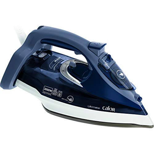 Calor Ultimate Anti-Calc Dry & Steam Iron Durilium Soleplate 3000 W Blue – Irons (Dry & Steam Iron, Durilium Soleplate, 2.5 m, 220 g/min, Blue, 55 g/min)