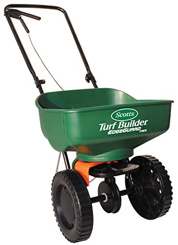 Scotts Turf Builder EdgeGuard Mini Broadcast Spreader - Holds up to...