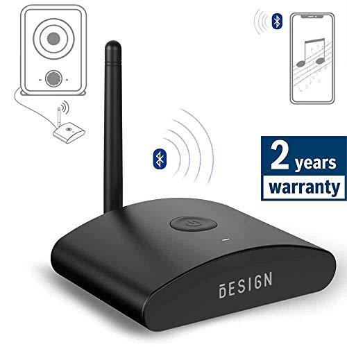 Besign BE-RX Largo Alcance Receptor Bluetooth, Adaptador de Audio Inalámbrico para Equipo Música Doméstico, Altavoces y HiFi, Admite Digital Coaxial, Digital Óptica y 3.5mm de Audio