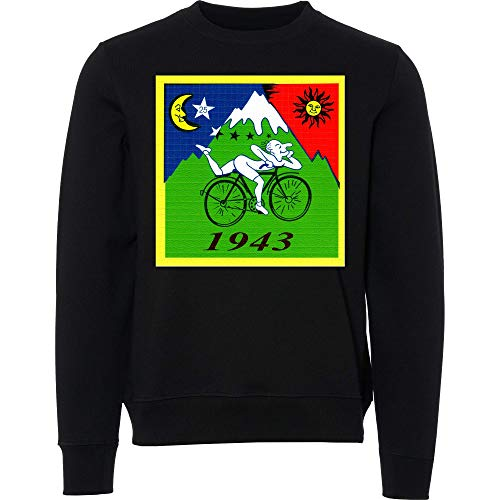 Albert Hofmann 1943 Illustration Schwarzer Unisex Sweatshirt Sweater Small
