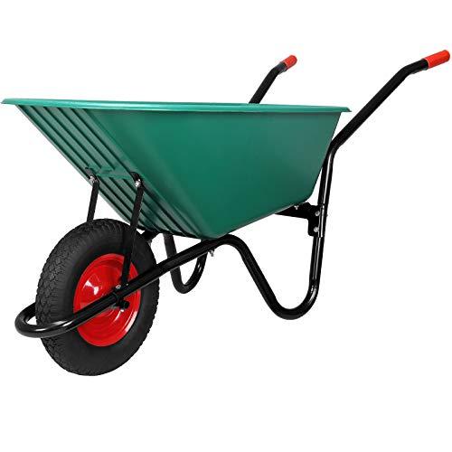 Monzana® Schubkarre 100 Liter Bauschubkarre Gartenschubkarre bis 150kg Belastbarkeit Luftreifen stabile Ausführung mit Kunstoffwanne - 9