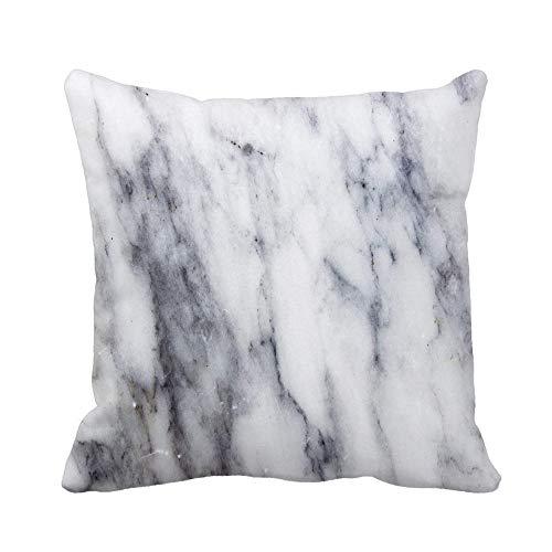 N\A Throw Pillow Cover Abstract White Marble Pattern Aged Antique Architecture Funda de Almohada Negra Brillante Funda de Almohada Cuadrada Decorativa para el hogar Funda de cojín