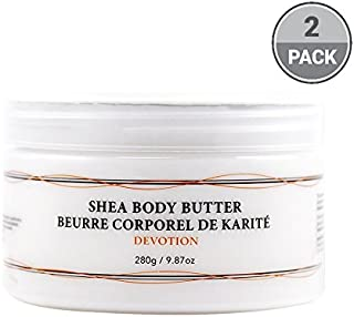 Vivo Per Lei Shea Body Butter Lotion, Leaves Skin Softer to Touch, Devotion (Pack of 2)