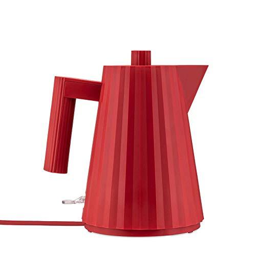 Alessi Plissè MDL06/1RUK - Bouilloire Électrique Design en Résine Thermoplastique, Prise Anglaise, 100 cl, Rouge