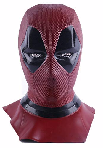 FUGUI Máscara Deadpool Películas Cosplay Disfraz para aficionados, Máscara de Halloween Casco de cabeza para hombres adultos (Largo - Deadpool)