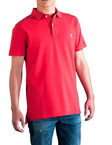 EL PULPO Polo Básico Rojo Small Amarillo