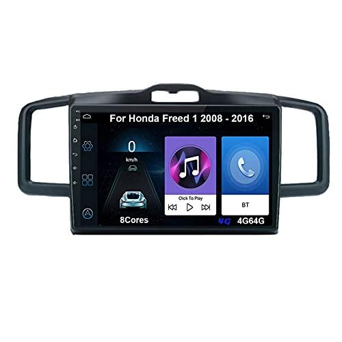 Android 10 Autoradio 9 Pulgadas Coche Radio De Coche Pantalla Tactil Para Honda Freed 1 2008-2016 Radio Del Coche Car Player Conecta Y Reproduce Coche Audio USB Cámara Trasera
