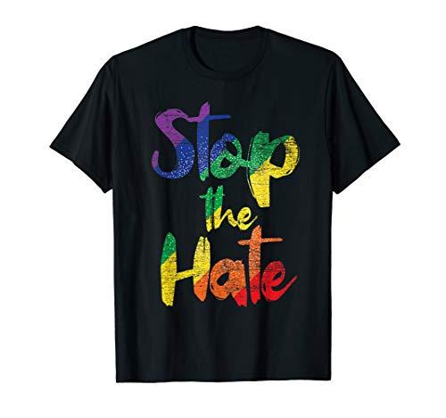 Stoppt den Hass - Peace Regenbogen Gay Pride LGBT T-Shirt