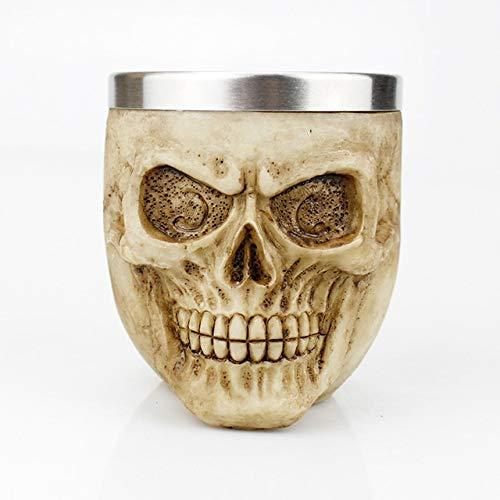 Copas de vino tinto Copa de vino conjunto de copa Gótico vino cáliz Estilo Contener cabra cráneo de Viking Dragón Garra dedo metálicas y resina copa de vino de Halloween MEJOR regalos Bar Vasos