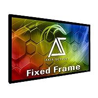 Akia Screens 135インチ 固定フレーム プロジェクタースクリーン ウォールマウント 16:9 8K 4K Ultra HD 3D対応 シネホワイト UHD-B ブラック 135インチ プロジェクタースクリーン 屋内 映画 ビデオ ホームシアター シネマ オフィス AK-FF135WH2