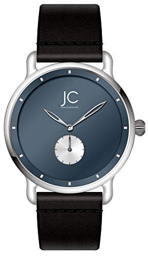 Jean Constantine Herren- / Damen-Uhr Analog - Leder-Armband, Quarz Uhrwerk, Mineral-Glas, ASS0065-2