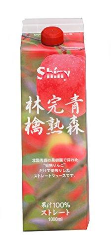 シャイニー 青森完熟林檎 1L×6本 紙パック