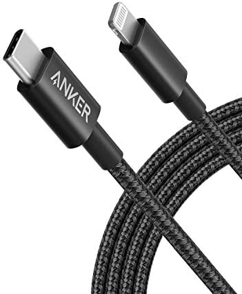 Anker New Nylon USB C to Lightning Charging Cord for 6ft MFi Certified for iPhone 12 11 Pro product image