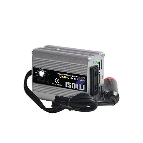 Inversor De Energia con zócalo británico y Interfaz USB inversor de energía convertidor a Bordo con Enchufe Británico (Color : Silver, Size : One Size)