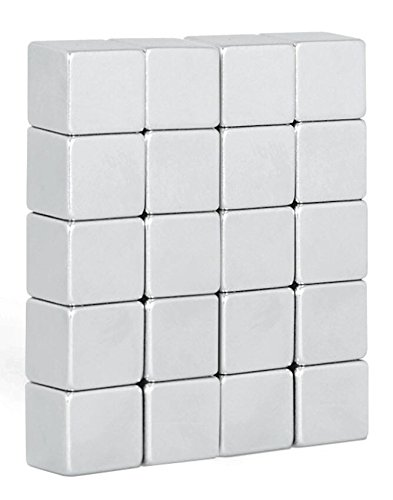 20 Super Starke Neodym Würfel-Magnete (10x10x10mm)/Ideal für Whiteboards und Glasmagnettafeln/By NeoMag (20)