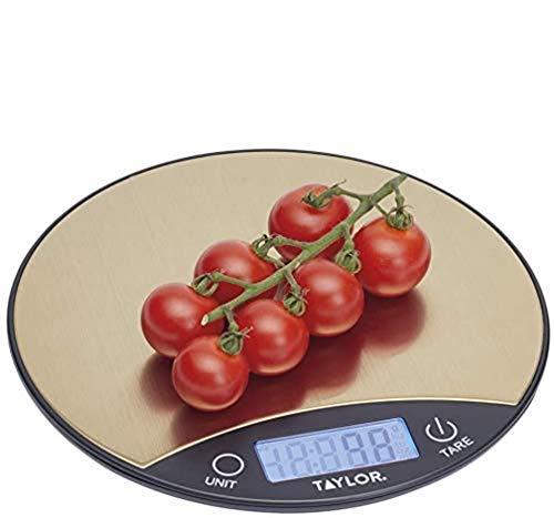 Taylor Pro Balanza Digital Fina y Redonda de Cocina, Compact